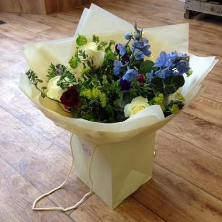 Cottage garden handtied bouquet